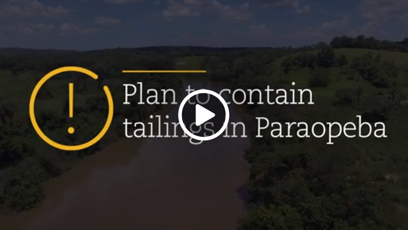 Video – Plan to contain tailings in Paraopeba