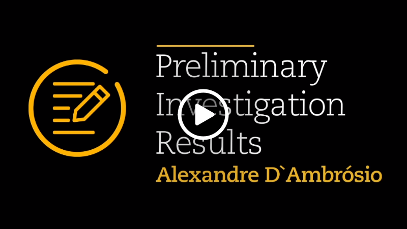 Video – Preliminary Investigation Results
