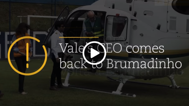Video – Vale CEO Fabio Schvartsman back in Brumadinho