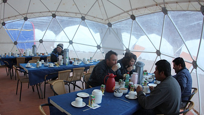 In the first Nemesis research season, about 70 people worked at the camp at the top of the Andes.