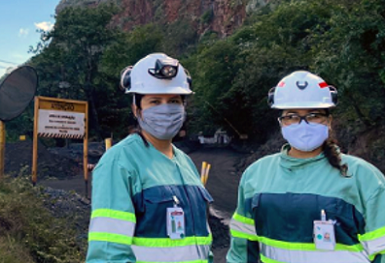 Vale's underground mine in Brazil has the First women in its operations