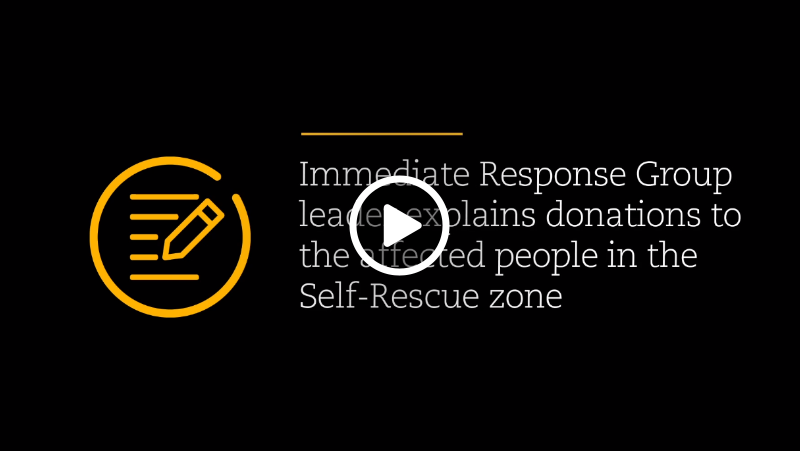 Video – Vale's director explains about the donations to the affected people of the Self-Rescue Zone