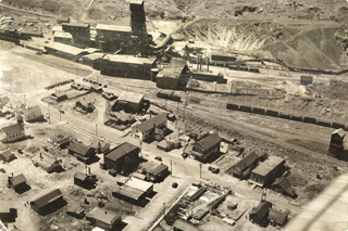 Aerial view of the Thompson refinery.