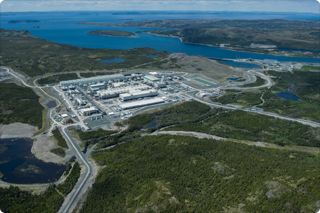 Aerial view of the Long Harbour Processing Plant