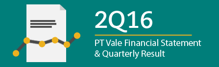 PT Vale reports higher production and sales in the second quarter of 2016
